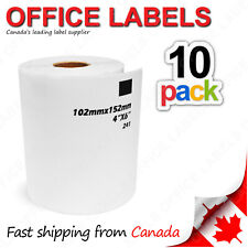 10 Rolls of DK-1241 BROTHER® Compatible Labels 4'' x 6'' (Without Holder)