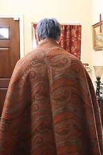 "Antique 19th C Kashmir/Paisley Crinoline Shawl 5'10""x 5'8"" SUPERB cond. fr UK"