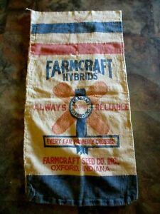 VINTAGE FARMCRAFT HYBRIDS OXFORD IN SEED CORN CO BAG SACK