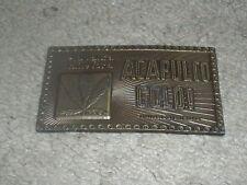 """VINTAGE 1970s """"I'D WALK A MILE FOR ACAPULCO GOLD"""" MARIJUANA WEED Belt Buckle"""