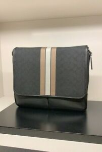 NWT Coach Thompson Map Bag In Signature Jacquard With Varsity Stripe