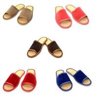 Women Lady Suede Leather Slippers Slip On Shoes Mule Sandals Size 3 4 5 6 7 8  S