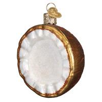 """Coconut"" (28119)X Old World Christmas Glass Ornament w/ OWC Box"