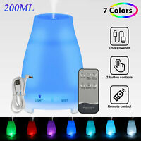 Aroma Essential Oil Diffuser Aromatherapy Mist Ultrasonic Humidifier 7-Color LED