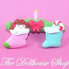NEW Fisher Price Loving Family Holiday Dollhouse Stockings Mantle Fireplace