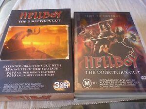 Hellboy - The Director's Cut (3x DVD, 2004) Region 4 Ron Perlman, Doug Jones