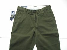POLO RALPH LAUREN Men's Classic-Fit Olive Green Flat Front Chino Pant 32x32