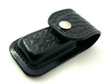 BLACK LEATHER 9cm USA made FOLDING Pocket/Hunting Knife SHEATH