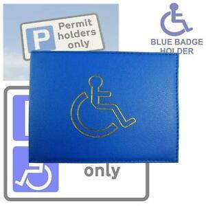 DisabledBlue Badge Holder Hologram Safe Parking Permit Display Cover Wallet-Blue