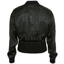 Versus Versace Silk Satin Strass  Lion  Bomber Jacket Size 46  Nuovo
