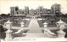 Windsor Castle. East Terrace # 910 by LL / Levy. Black & White. Serrated Edge.