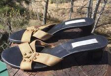 Spiegel Women's Metallic Gold Slip On Sandal Pump Size 8B US