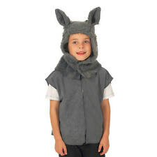 Childrens Wolf Tabard Fancy Dress Costume Ages 3-9 Years