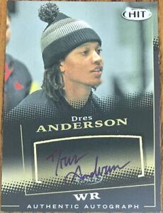 2015 SAGE HIT Autographs Black Dres Anderson #A12 Utah