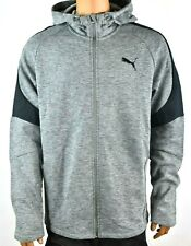 Puma Men Hoodie Sweat Jacket New XXL Black Gray Regular Fit Warm Winter Pullover