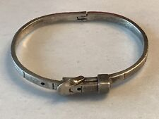 Vintage Sterling Silver'Belt Buckle'Bangle Bracelet Mexico!