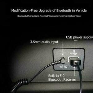 3.5mm Baseus Aux Bluetooth 5.0 Receiver Car USB Dongle Cable Adapter Transmitter