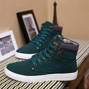 Zapatos casuales de-moda para hombre zapatos de lona altos zapatillas de deporte