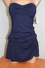 NWT Anne Cole Swimsuit Bikini Tankini 2 pc set Sz XS Bandeau Skirt Twist Strap