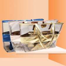 UK Large Capacity PVC Clear Transparent Shoulder Bag Tote Candy Beach Handbags