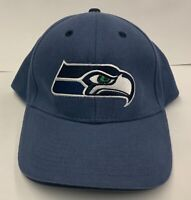 Seattle Seahawks Baseball Cap Hat Official NFL Tag Blue Cotton Algodon Adjusts