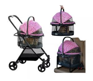 Pet Gear View 360 Pet Stroller Travel System Pink Floral