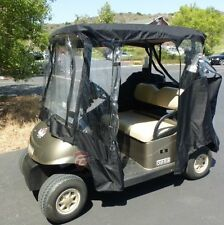 Golf cart enclosure 2 seater BLACK - all weather