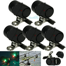 New 5Pcs Electronic Night Bite Fishing Alarm Alert Bell Clip on Rod with Light
