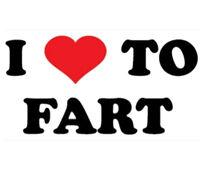 I Love To Fart Heart Funny Humor T-Shirt Tee