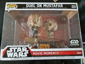 Duel on mustafar #222 Funko Pop Rare star wars movie moments in protector