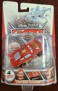 Disney Pixar Cars Movie Stunt Racers Lightning McQueen (2012) Mattel Die Cast T