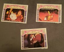 Disney stamps: set of 3 Beauty and the Beast St. Vincent Mint Mnh