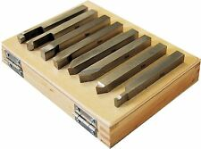 Set of 8 SCT Solid HSS Lathe Turning Tools 8 mm Square For Myford Etc