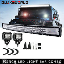 32Inch Tri-row Curved Led Light Bar Combo Fit Off-Road SUV UTE ATV VS 42/50/52'