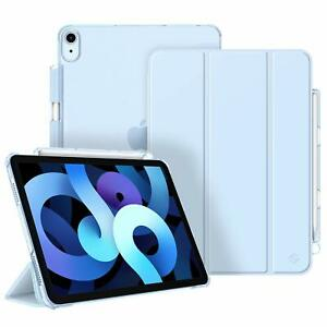 """SlimShell Case For iPad Air 4th 10.9"""" 2020 Translucent Frosted Back Cover Stand"""