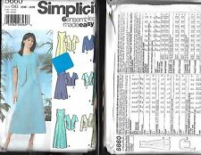 Simplicity Pattern 5660  Sz 26-32W Uncut Factory Fold  Dress 2 Lengths Jacket