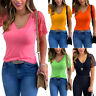 Women's Summer Casual Loose Lace Short Sleeves Blouse V Neck Tops TShirt