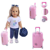 18 inch American Girl Doll Accessories Suitcase Boy Girl Portable Box Suitcase