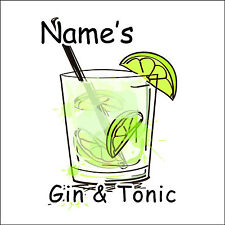 Gin and Tonic Personalised Coaster - Add A Name!