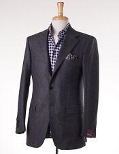 NWT $2895 SARTORIA PARTENOPEA Charcoal Herringbone Soft Wool Sport Coat 38 R