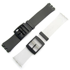Resin Strap 16mm by CONDOR fits only Swatch Skin models Black or Transparent P51