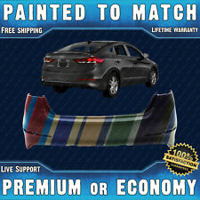 NEW Painted To Match Rear Bumper Replacement for 2017 2018 Hyundai Elantra Sedan
