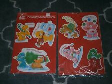 Vintage CARE BEARS Christmas HOLIDAY Decorations DECORATION 1983 NEW Giant
