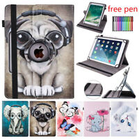 For 9.7 10 10.1 10.5 Inch Tablet PC Universal PU Leather 360 Rotate Case Cover