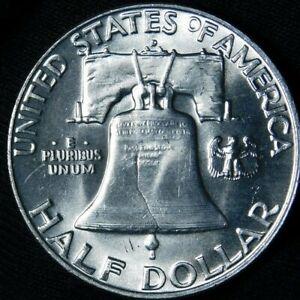 USA : 1958 D Franklin Half Dollar BU / UNC   60-130