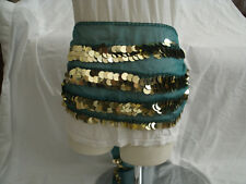 Egyptian Green Belly Dancing Belt With Plastic Gold Coins #6
