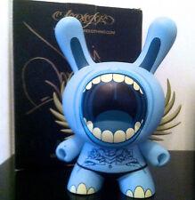 """DUNNY 8"""" DEPH BIG MOUTH SDCC BLUE WINGS SIGNED BOX KIDROBOT 2006 VINYL DESIGNER"""