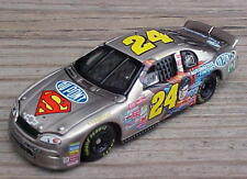 Jeff Gordon Brushed Bare Metal Superman Diecast Action Racing Toy Stock Car 1/64