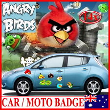 """HQ 14x """"ANGRY BIRDS"""" Decal Sticker Badge For Car Auto Motorbicycle laptop desk"""