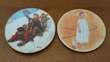 Lot of 2 Norman Rockwell collectors plates